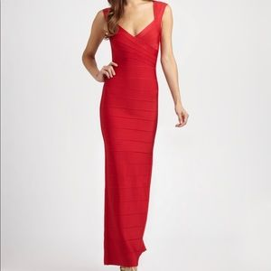 Herve Leger AUTHENTIC Bandage Red Gown